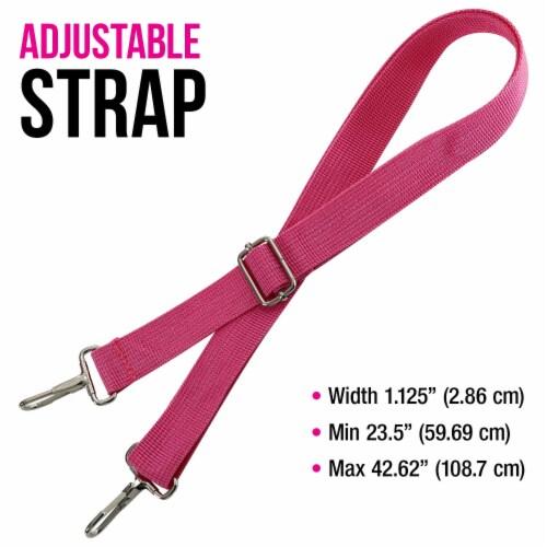Master Marker 80 Slot Premium Nylon Marker & Lipstick Storage Case Hot Pink Perspective: right