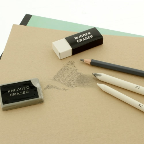 20 Piece Artist Sketch Set with Storage Case - Sketch & Charcoal Pencils, Pastel, & Stumps Perspective: right