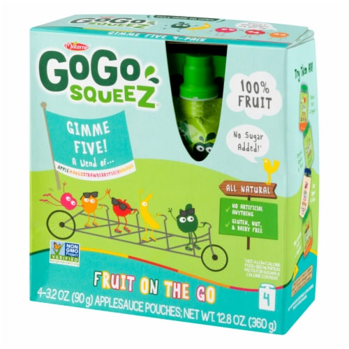 GoGo SqueeZ Gimme Five Applesauce Pouches Perspective: right