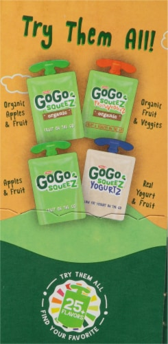 GoGo Squeez Fruit & Veggiez Variety Pack 12 Count Perspective: right