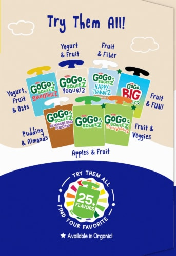 GoGo Squeez Yogurtz Strawberry and Banana Yogurt Pouch Variety Pack Perspective: right