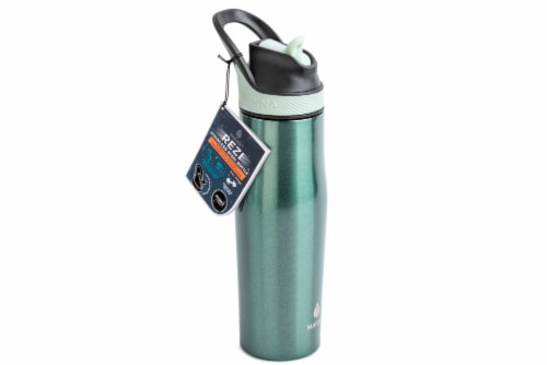 Manna Rezi Thermal Beverage Drinkware - French Blue Sparkle Perspective: right