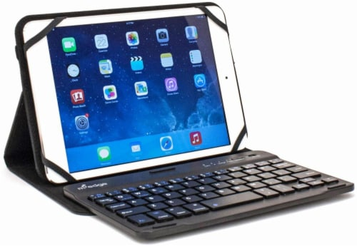 M-Edge Universal Folio Plus Pro Folio with Bluetooth Keyboard for 10-Inch Tablets - Black Perspective: right