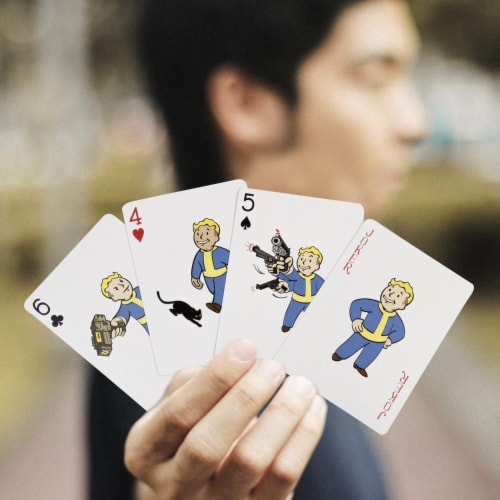 Fallout Vault Boy Playing Cards Perspective: right
