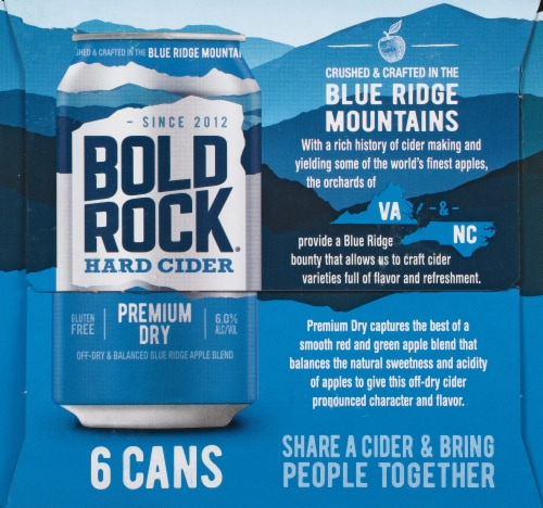 Bold Rock Premium Dry Hard Cider Perspective: right