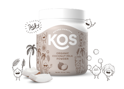 KOS Organic Coconut Milk Powder Perspective: right