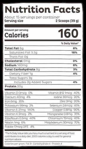 KOS Organic Vanilla Flavor Plant Protein Powder Perspective: right