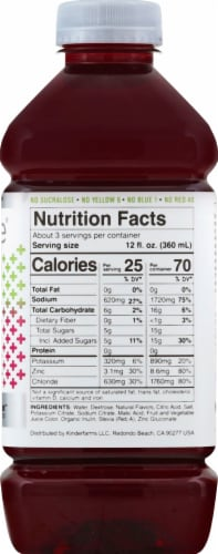 Kinderlyte Advanced Natural Wild Berry Electrolyte Solution Perspective: right