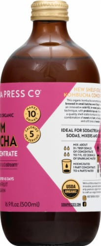 SodaStream Soda Press Organic Passionfruit & Mandarin Kombucha Concentrate Perspective: right