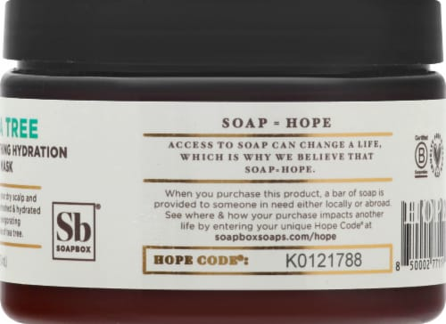 Soapbox Tea Trea Soothing Hydration Hair Mask Perspective: right