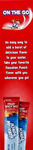 Hawaiian Sugar Free Fruit Juicy Red Powdered Drink Mix Perspective: right
