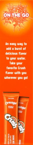 Crush Orange Drink Mix Packets Perspective: right