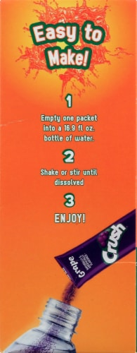 Crush Sugar Free Drink Mix Sticks Variety Pack Perspective: right