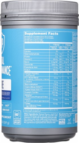 Vital Proteins Watermelon Blueberry Performance Pre Workout Powder Perspective: right