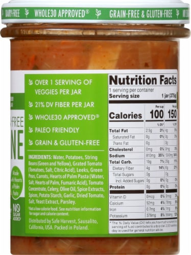 Safe Harvest Grain and Gluten Free Minestrone Soup Perspective: right