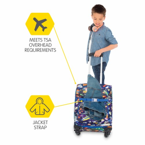 Bixbee Meme Space Odyssey Young Traveler Luggage Perspective: right
