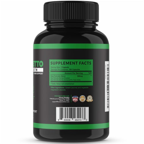 Havasu Nutrition Extra Strength Saw Palmetto Perspective: right