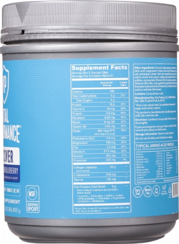 Vital Proteins Watermelon Blueberry Performance Recover Powder Perspective: right