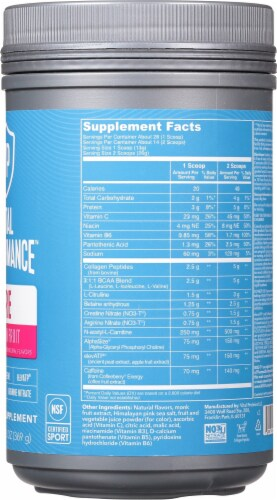 Vital Performance™ Passion Fruit  Pre Workout Powder Perspective: right