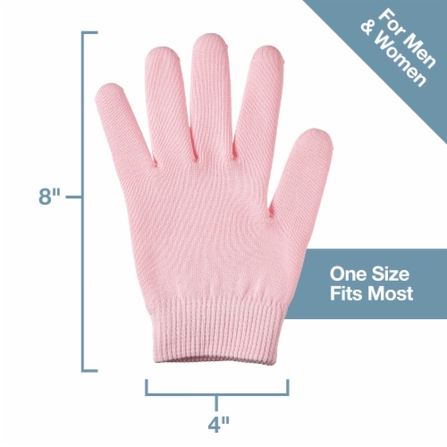 ZenToes Moisturizing Gloves - Dry, Cracked Skin Healing Treatment - 1 Pair (Cotton Pink) Perspective: right