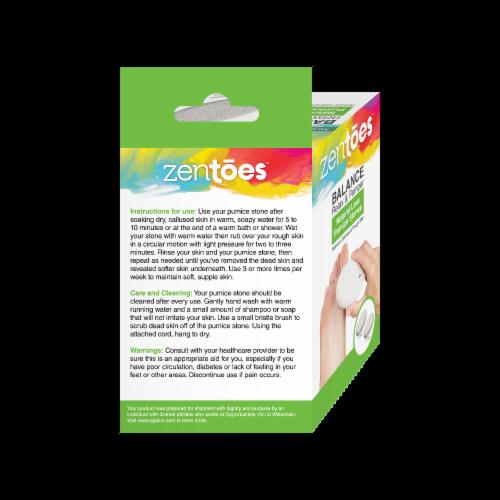 ZenToes Natural Lava Pumice Stone Pedicure Callus Remover Bar, Exfoliate Rough Skin - 2 Count Perspective: right