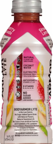 BODYARMOR Lyte Strawberry Lemonade Sports Drink Perspective: right