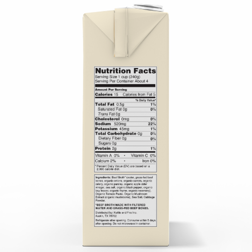 Kettle & Fire Traditional Beef Broth Perspective: right