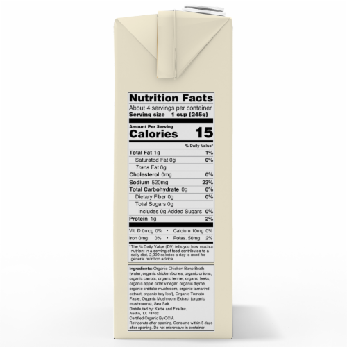 Kettle & Fire Traditional Chicken Broth Perspective: right