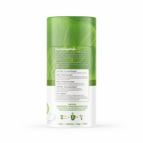 Om® Mushroom Organic Matcha Latte Blend Powder Perspective: right