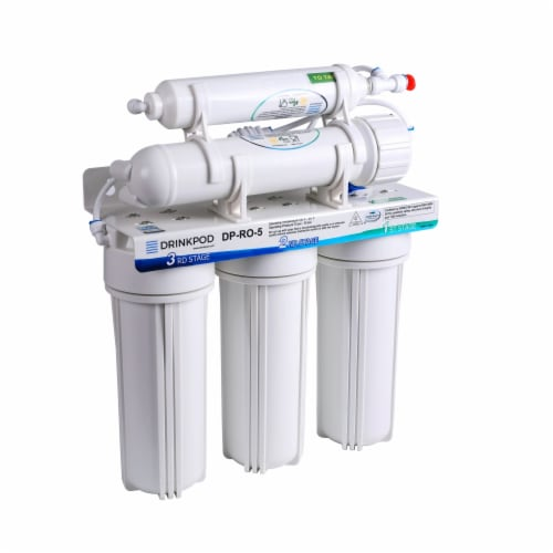 5 Stage Under Sink Reverse Osmosis Water Filtration System 80 GPD High Capacity Perspective: right