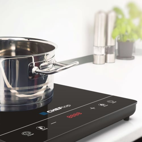 Cheftop Single Burner Induction Cooktop - Portable 120V Digital Ceramic Top Single 1300W Perspective: right