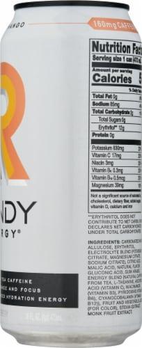 Rowdy Energy Sugar Free Peach Mango Energy Drink Perspective: right