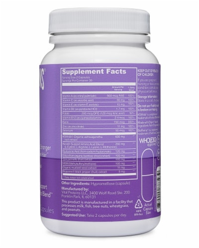 Vital Proteins Hair Boost Capsules Perspective: right