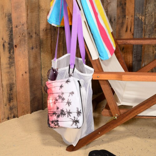 Cloth Diaper Wet Dry Bag with Zipper, Waterproof Pouch with Carabineer Hook, Reusable Perspective: right