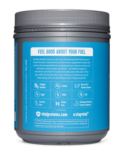 Vital Performance Cold Brew Coffee Protein Powder Perspective: right