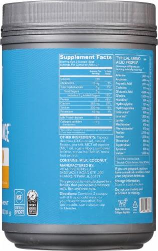 Vital Performance Vanilla Protein Powder Perspective: right