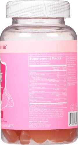 Vital Proteins Strawberry Beauty Gummies Perspective: right