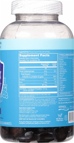 Vital Proteins Grape Collagen Gummies Perspective: right
