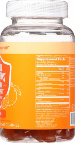 Vital Proteins Citrus Immune Support Gummies Perspective: right