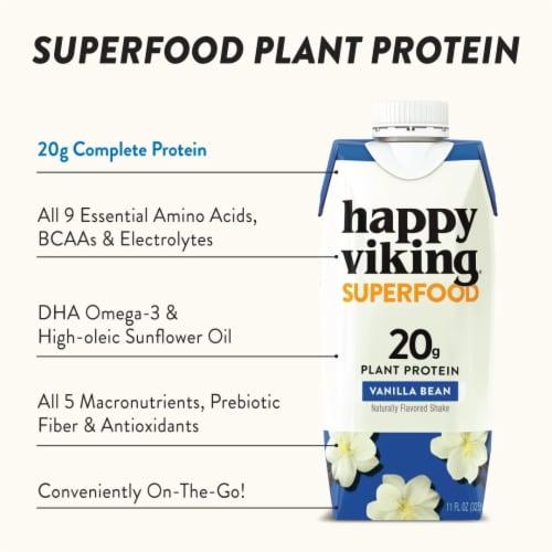 Happy Viking Vanilla Bean Plant Protein Shake Perspective: right