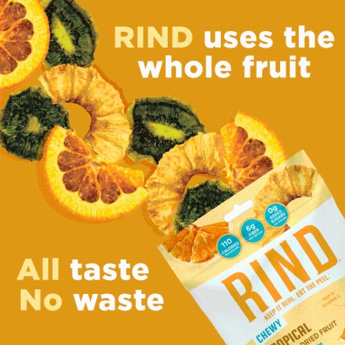 RIND Snacks Tropical Blend Dried Fruit Superfood - 3oz Bags, 6 Bags Total Perspective: right