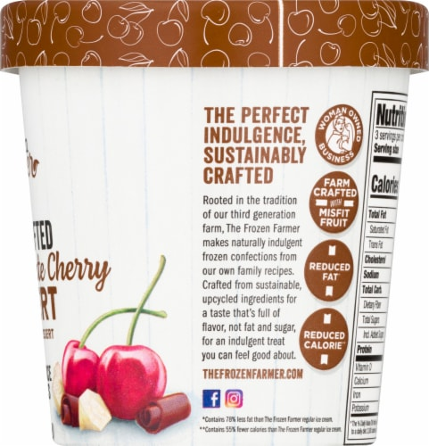 The Frozen Farmer Double Chocolate Cherry Frobert Frozen Dairy Dessert Perspective: right