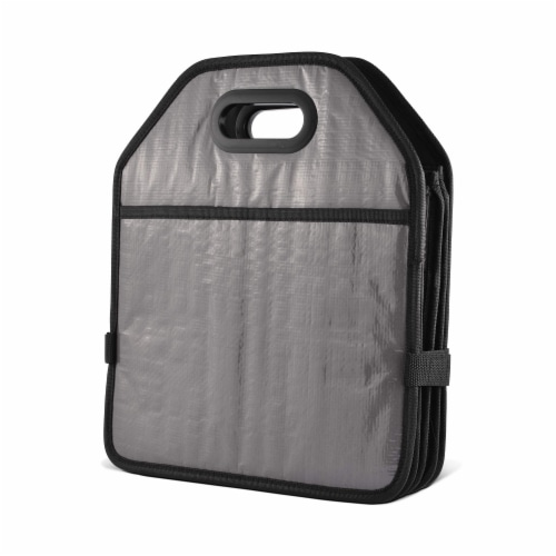 Foldable Trunk Organizer Functional Cargo Storage Divider Bag, 4 Compartments Portable Bag Perspective: right