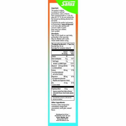 Floradix Calcium Magnesium Liquid Herbal & Mineral Supplement Perspective: right
