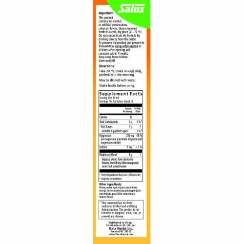 Floradix Magnesium Liquid Herbal & Mineral Supplement Perspective: right
