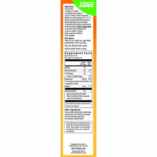 Floradix Magnesium Vegetarian Liquid Herbal and Mineral Supplement Perspective: right