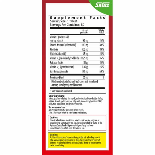 Floradix Iron Vegetarian Tablets Perspective: right