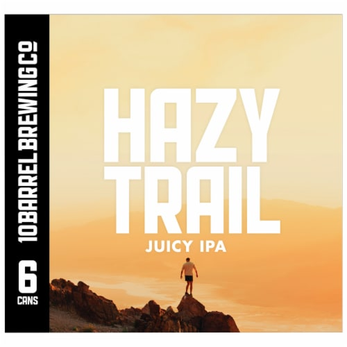 10 Barrel Brewing Hazy Trail Juicy IPA Perspective: right
