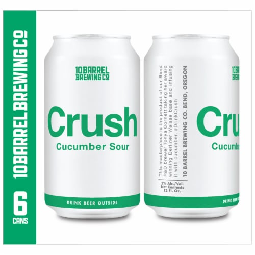 10 Barrel Brewing Crush Cucumber Sour Perspective: right