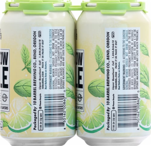 10 Barrel Brewing Moscow Mule Prepared Cocktail 4 Cans Perspective: right